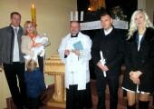 Pierwszy chrzest w nowej chrzcielnicy